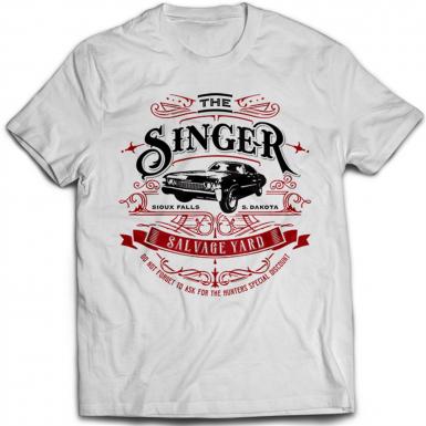 Singer Salvage Auto Yard Mens T-shirt