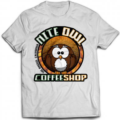 Nite Owl Coffee Shop Mens T-shirt