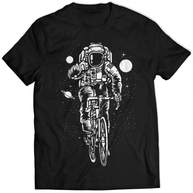 Astronaut On Bicycle Mens T-shirt