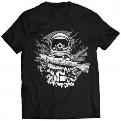 Astronaut Fishing Mens T-shirt