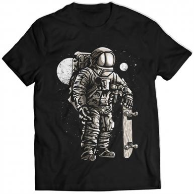 Astronaut Skater Mens T-shirt