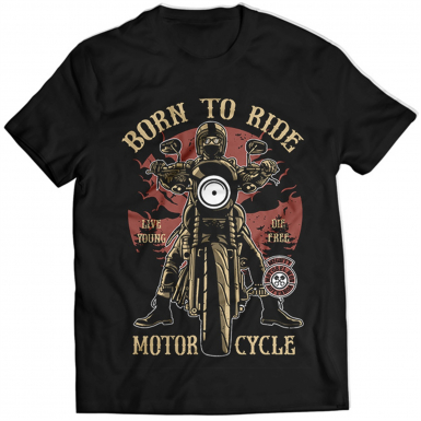 Born To Ride Mens T-shirt