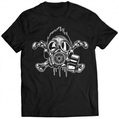 Crossbones Gasmask Mens T-shirt