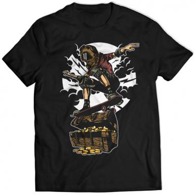 Diver Skater Treasure Mens T-shirt