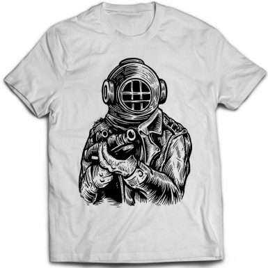 Diver Soldier Mens T-shirt