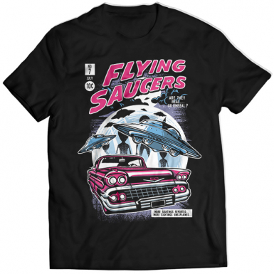 Flying Saucers Mens T-shirt