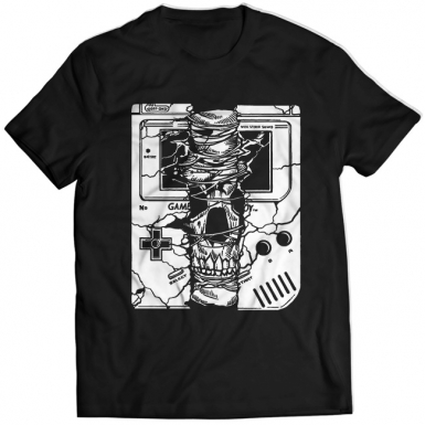 Gameboy Skull Mens T-shirt