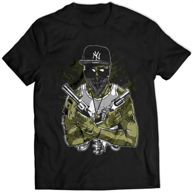 Gangsta Zombie Mens T-shirt