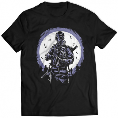 Gas Mask Soldier Mens T-shirt