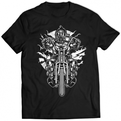 Gas Mask Chopper Mens T-shirt