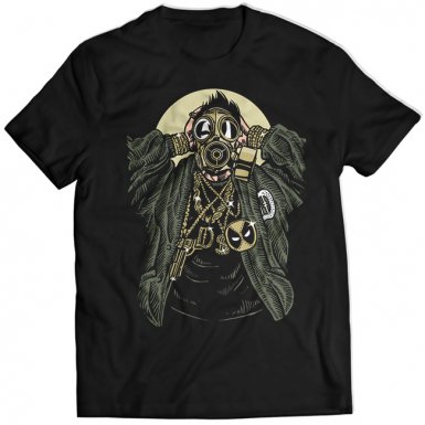 Gas Mask Gangsta Mens T-shirt