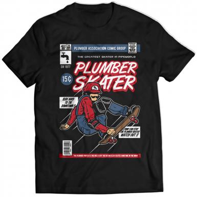 Plumber Skater Mens T-shirt