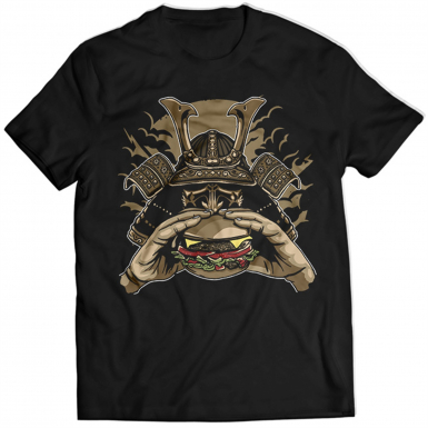 Samurai Burger Mens T-shirt