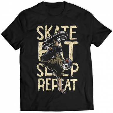 Skate Eat Sleep Repeat Mens T-shirt