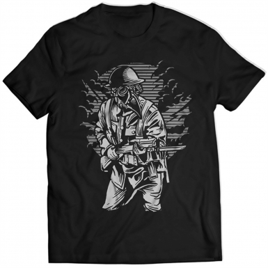 Steampunk Style Soldier Mens T-shirt