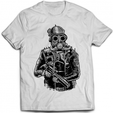 Steampunk Soldier Mens T-shirt