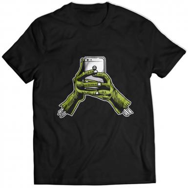 Zombie Phone Mens T-shirt