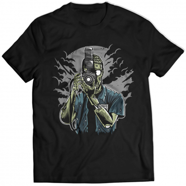 Zombie Photographer Mens T-shirt