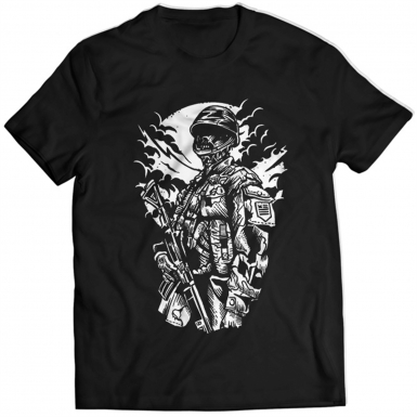 Zombie Soldier Mens T-shirt