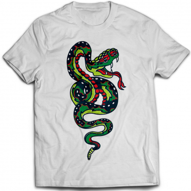 Tattoo Snake Mens T-shirt
