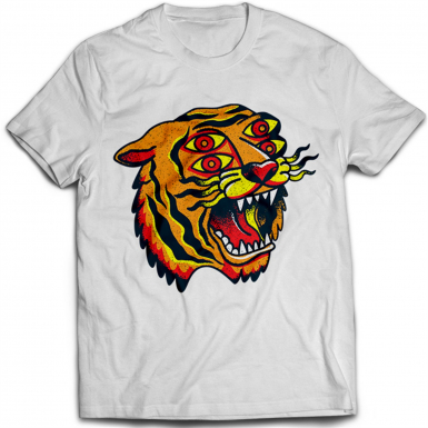 Tattoo Tiger Mens T-shirt