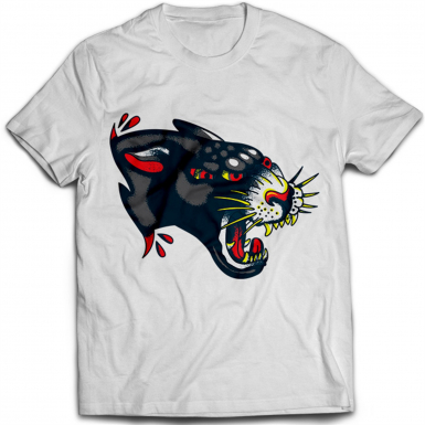 Tattoo Black Puma Mens T-shirt