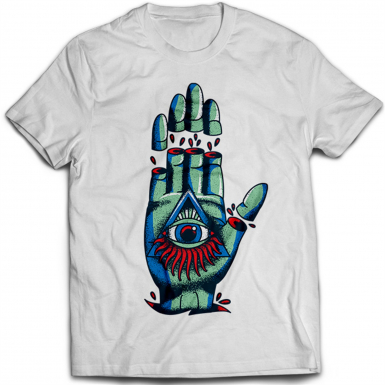 Tattoo Illuminati Hand Mens T-shirt
