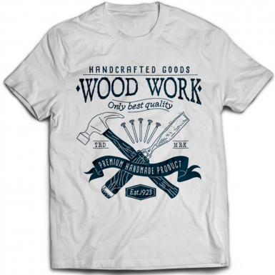 Wood Work Chisel And Hammer Mens T-shirt