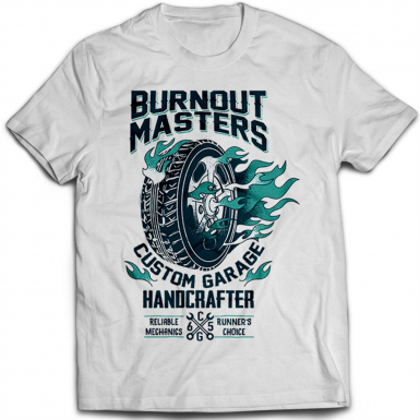 Burnout Masters Mens T-shirt