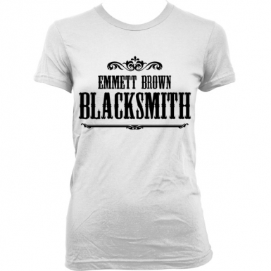 Emmett Brown Blacksmith Womens T-shirt