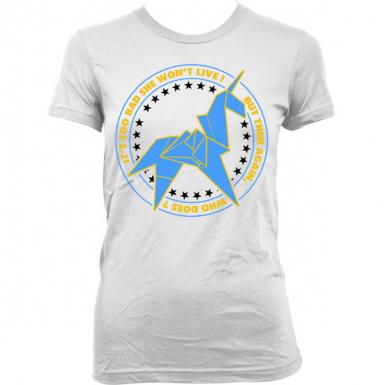 Unicorn Origami Womens T-shirt
