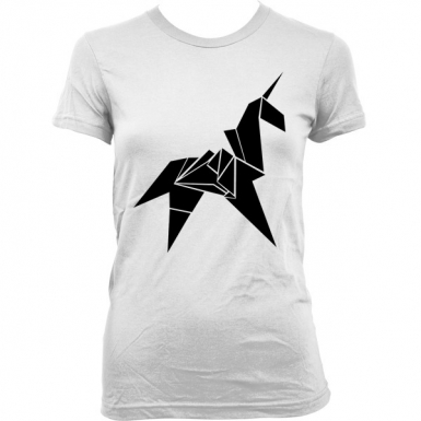 Unicorn Origami Womens T-shirt