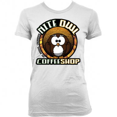 Nite Owl Coffee Shop Womens T-shirt