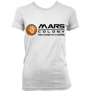 Mars Colony Womens T-shirt