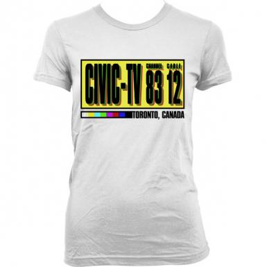 Civic TV Womens T-shirt