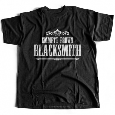 Emmett Brown Blacksmith Mens T-shirt