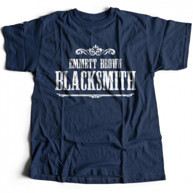 Emmett Brown Blacksmith Mens T-shirt