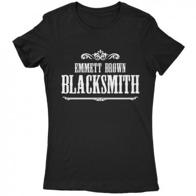 Emmett Brown Blacksmith Womens T-shirt