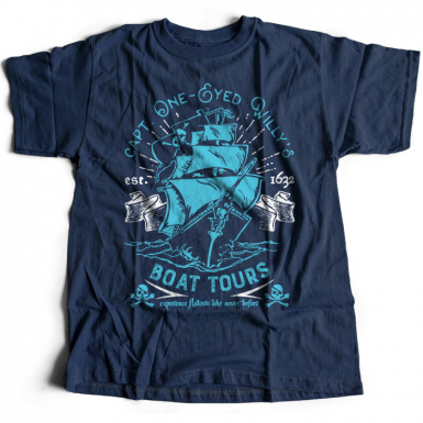 One-Eyed Willy's Boat Tours Mens T-shirt