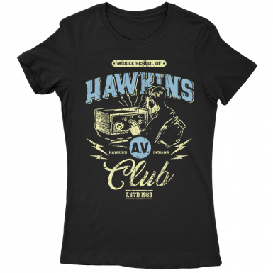Hawkins AV Club Womens T-shirt