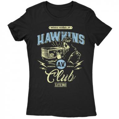 Hawkins AV Club Womens T-shirt