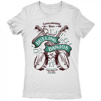 Dueling Banjos Womens T-shirt
