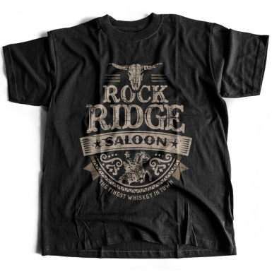 Rock Ridge Saloon Mens T-shirt