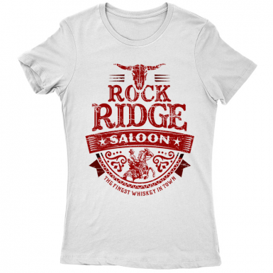 Rock Ridge Saloon Womens T-shirt