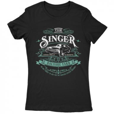 Singer Salvage Auto Yard Womens T-shirt