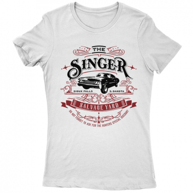 Singer Salvage Auto Yard Womens T-shirt