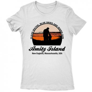 Amity Island Womens T-shirt