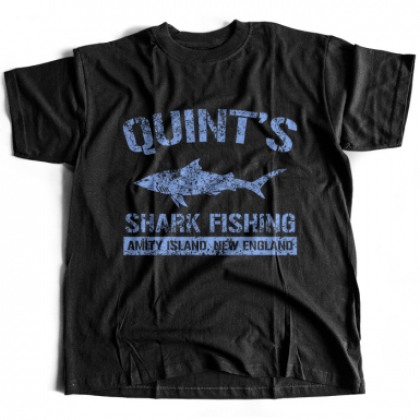 Quint's Shark Fishing Mens T-shirt