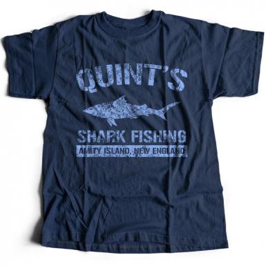 Quint's Shark Fishing Mens T-shirt
