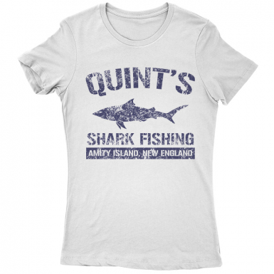 Quint's Shark Fishing Womens T-shirt